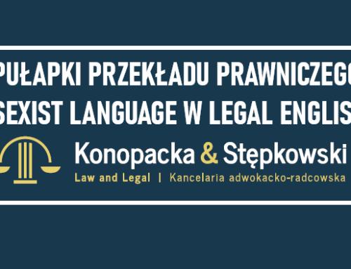 Problemy Przekładu Prawniczego : Sexist Language w Legal English